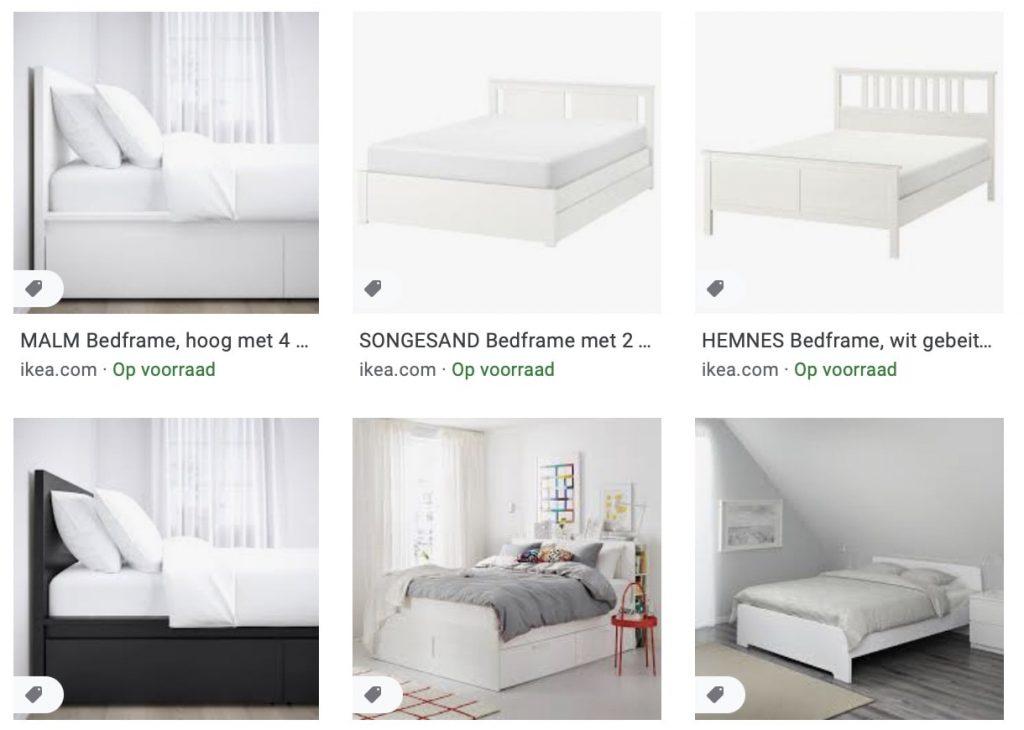 je nieuwe IKEA bed of matras
